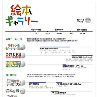 国際子ども図書館のデジタルアーカイブページ