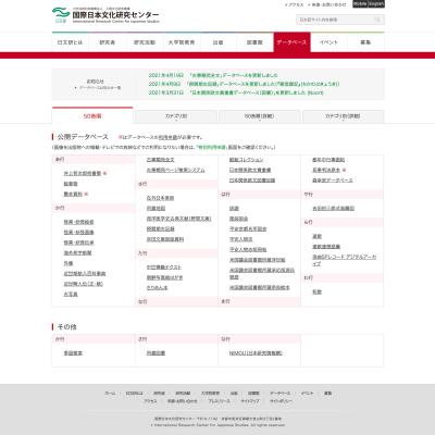 国際日本文化研究センターのデジタルアーカイブ