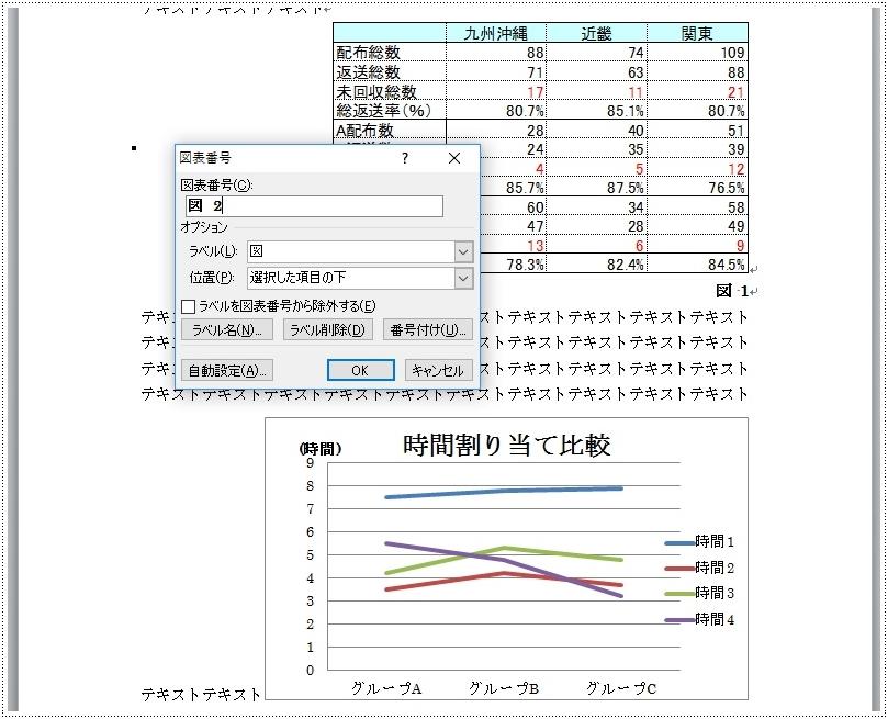 位置 図表 番号 【Word】図 part4:図表番号の挿入と変更