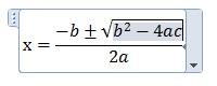 解の公式が完成したプレースホルダー