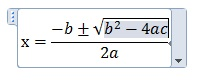 解の公式が完成